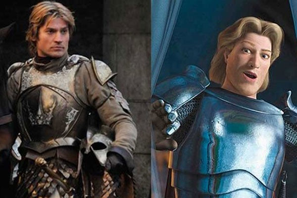 Jamie Lannister and Prince Charming from Shrek