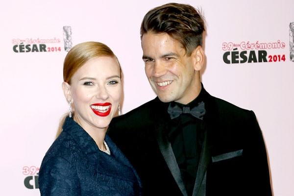 Scarlet Johansson and Romain Dauriac
