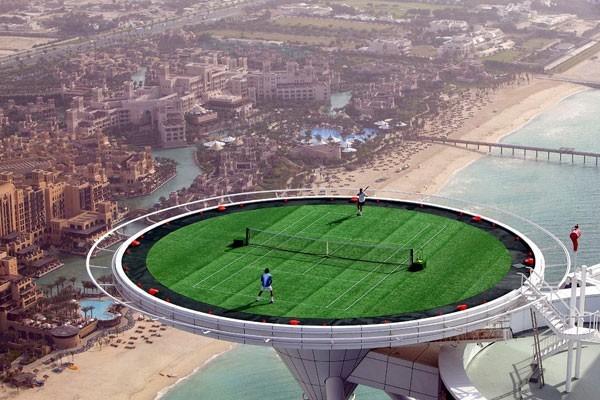 Tennis games in the air