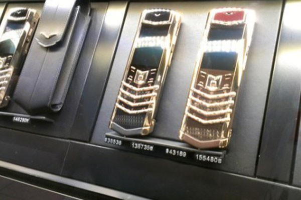 Gold and diamond cellphones