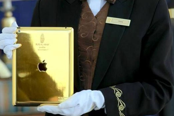 An iPad made of gold