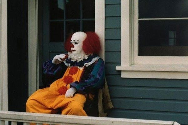 'IT' having a smoke during a break