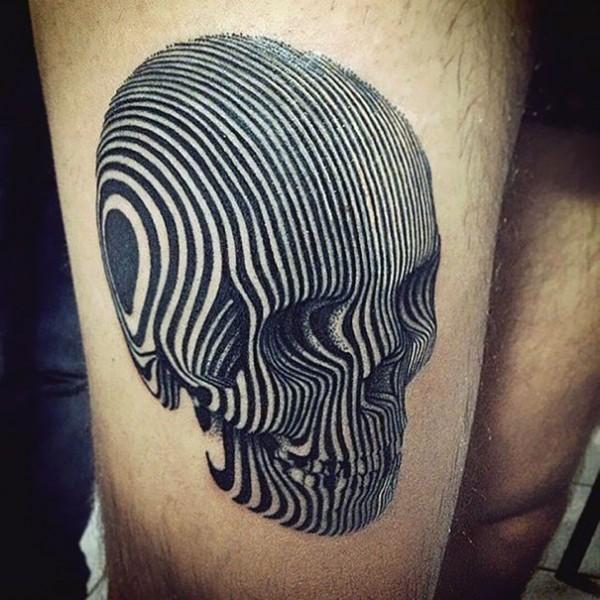 3D Black Skull