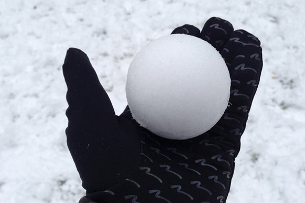 The world's most perfect snow ball
