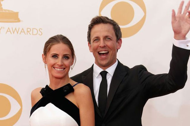 7. Seth Meyers and Alexi Ashe