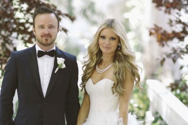 13. Aaron Paul and Lauren Parsekian