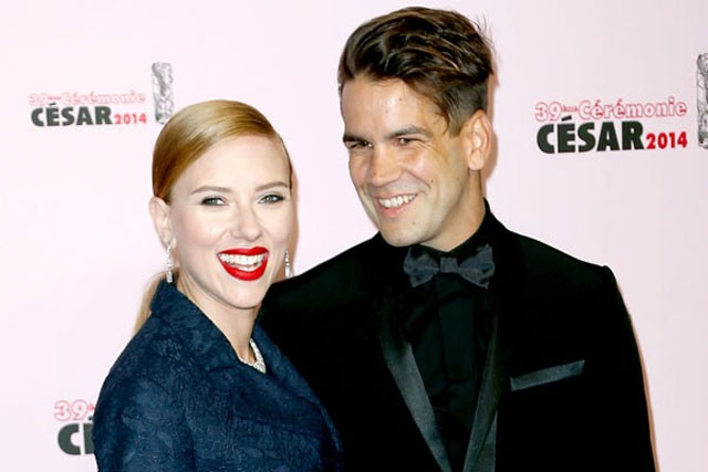 15. Scarlett Johansson and Romain Dauriac