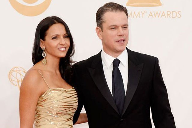 17. Matt Damon and Luciana Barroso
