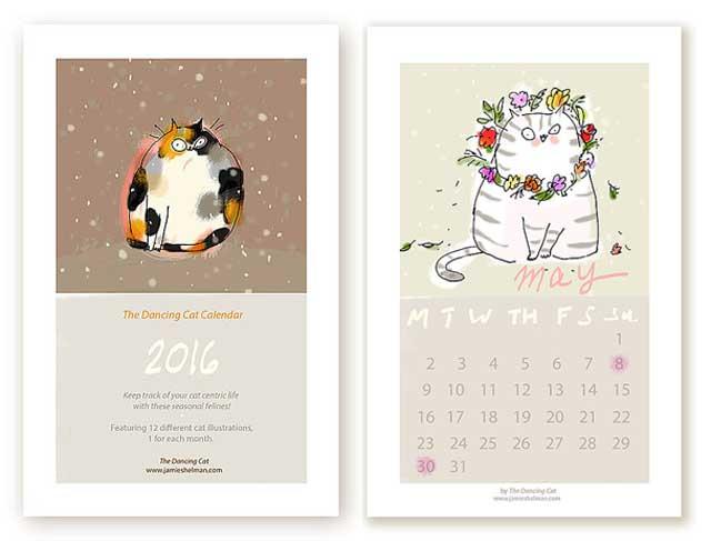 17. Cat Calendar