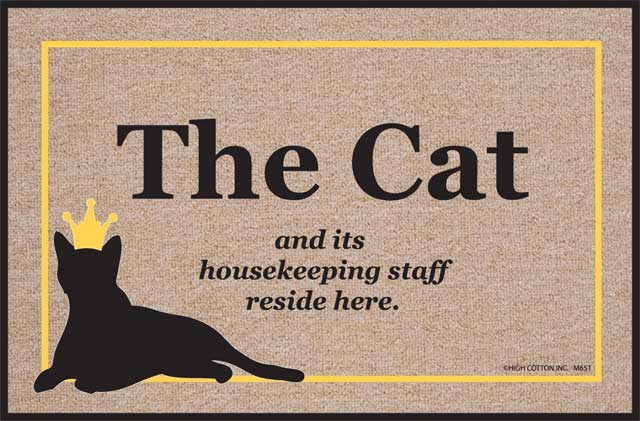 18. Cat Welcome Mat