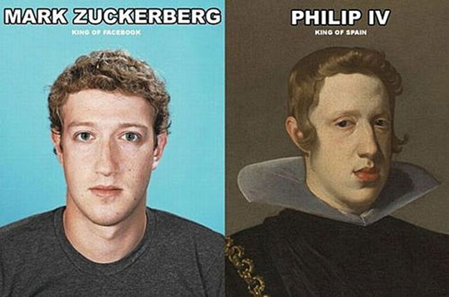 1. Mark Zuckerberg and Philip IV of Spain