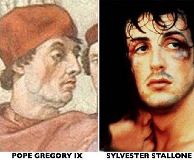 3. Sylvester Stallone and Pope Gregory IX
