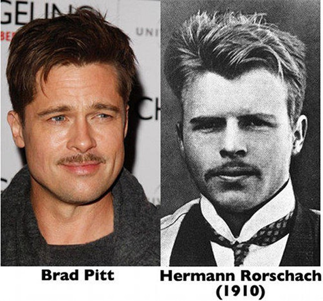 4. Brad Pitt and Herman Rorschach