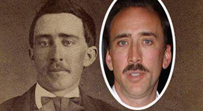 5. Nicolas Cage and his Civil War Era Twin
