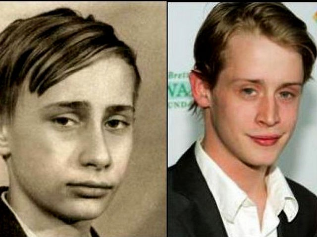 6. Macaulay Culkin and a young Vladimir Putin