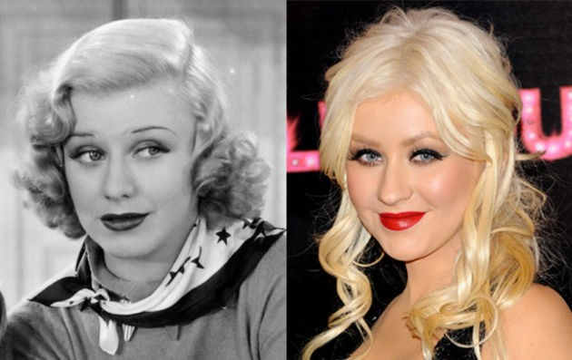7. Christina Aguilera and actress Ginger Rogers