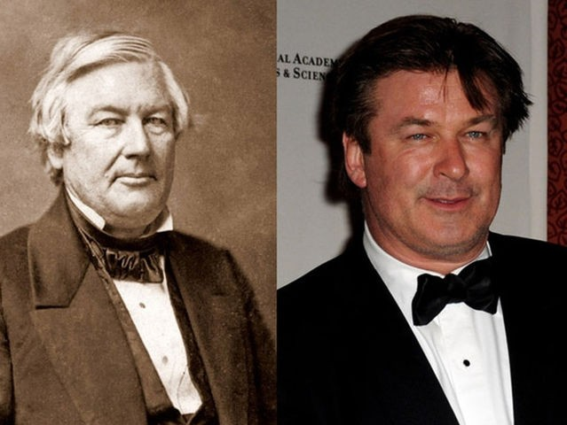 9. Alec Baldwin and President Millard Fillmore