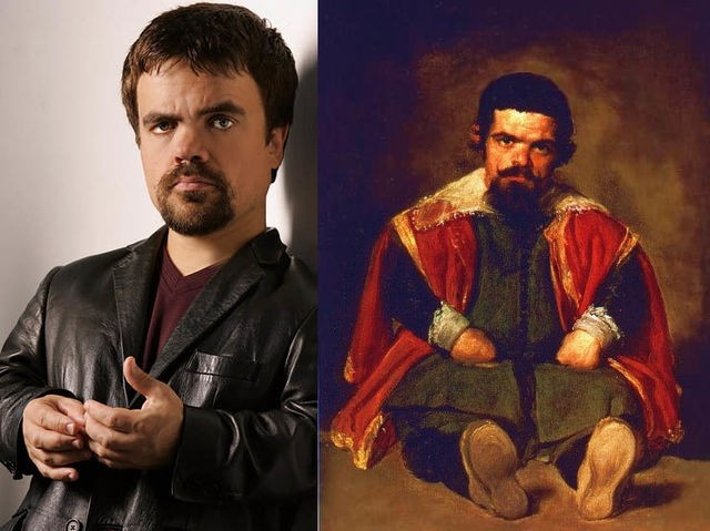 10. Peter Dinklage and his likeness in the work of painter Diego Velázquez