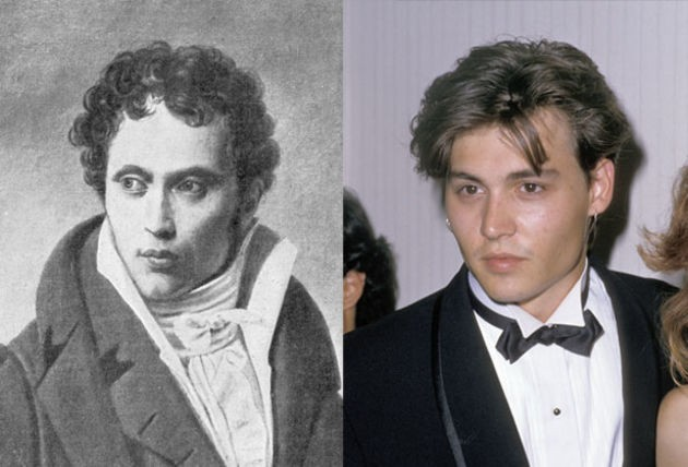 14. Johnny Depp and philosopher Arthur Schopenhauer