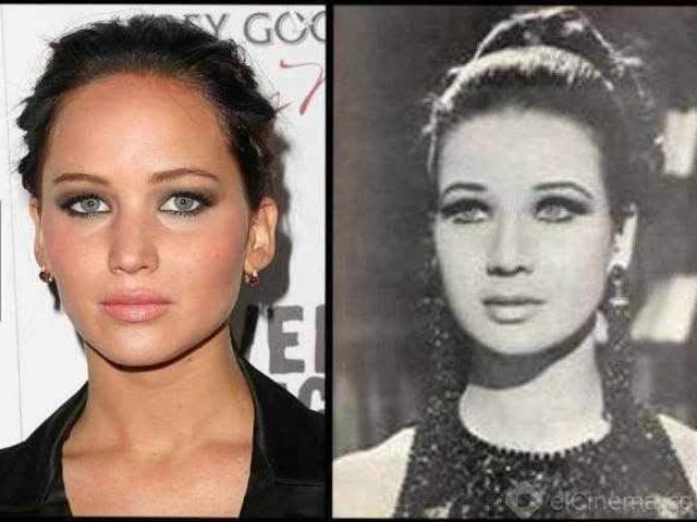 15. Jennifer Lawrence and Zubaida Tharwat