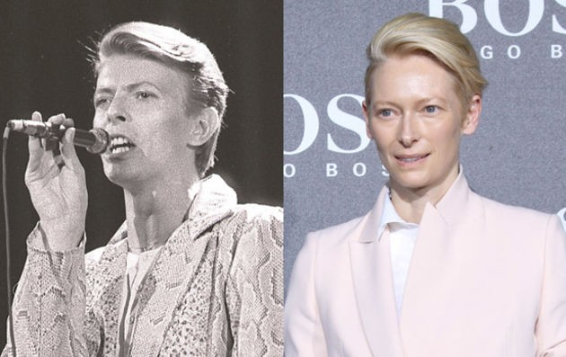 18. Tilda Swinton and David Bowie