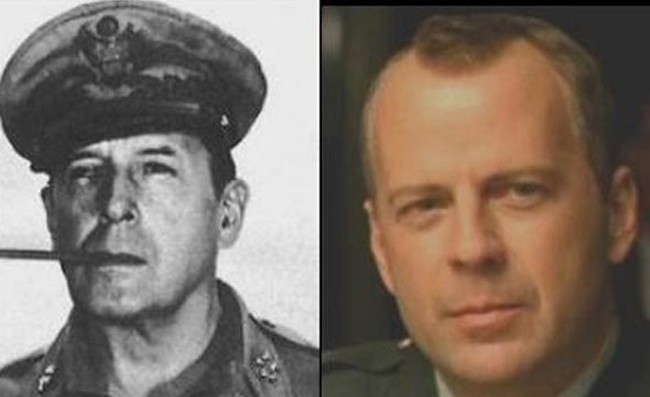 19. Bruce Willis and General Douglas MacArthur