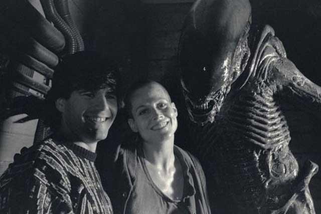 Ellen Ripley and Alien