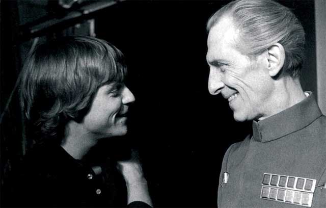 Grand Moff Tarkin and Luke Skywalker