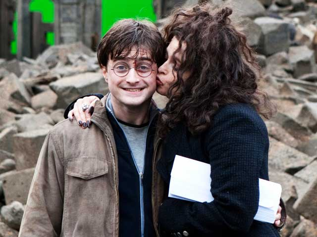 Bellatrix Lestrange and Harry Potter