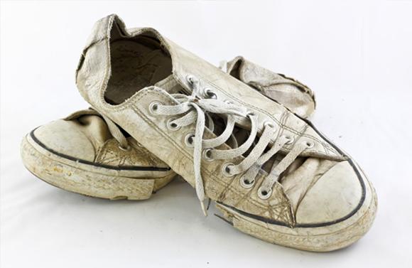 8. Scrub up your formal footwear.
