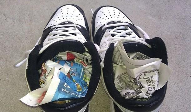 18. Wet shoes