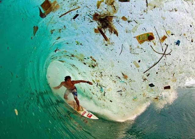 Trash on the beaches