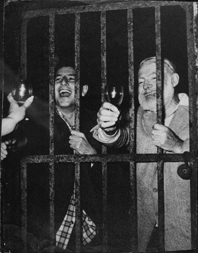 Party with Hemingway in jail