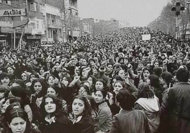Women protest, Islamic Revolution