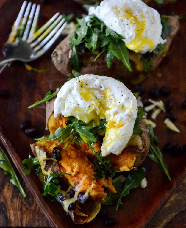 Eggs and sweet potatoes