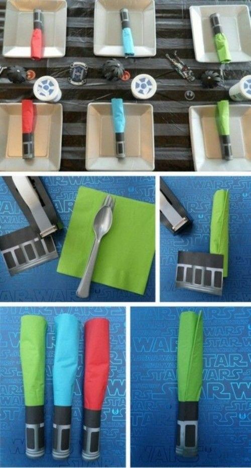 Ligthsaber napkins