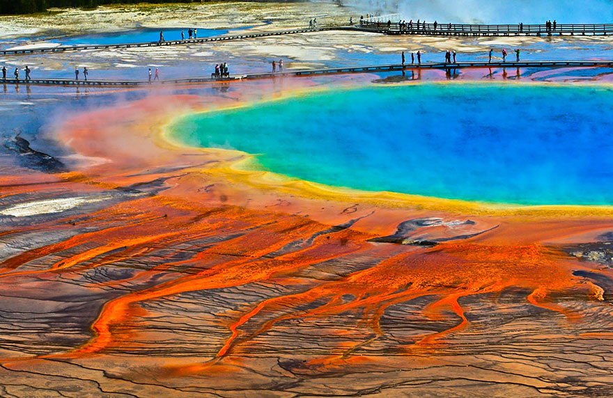 10. Grand Prismatic Spring, Wyoming, Usa
