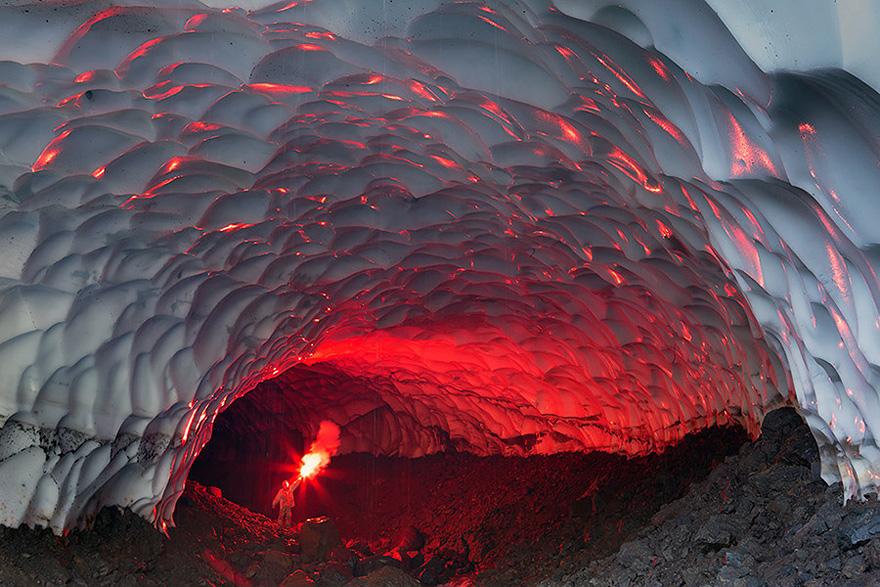 23. Ice Cave Near The Mutnovsky Volcano, Russia