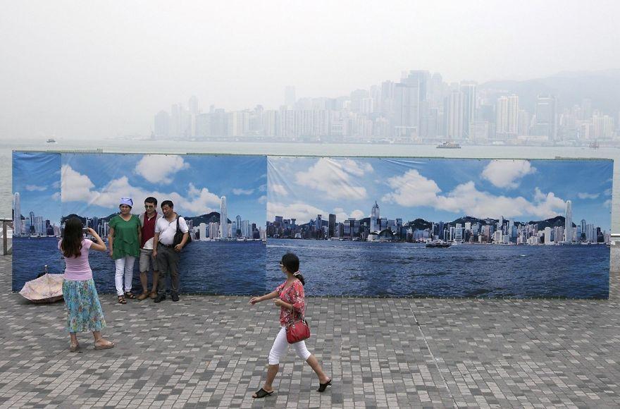 11. Fake Hong Kong Skyline