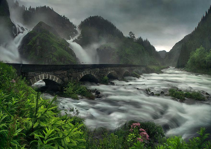 3. Bridge over Latefossen waterfall