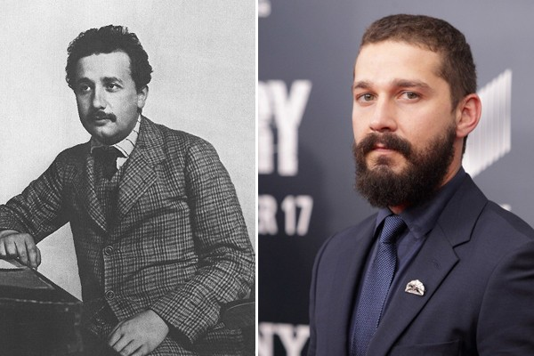 Albert Einstein and Shia LaBeouf