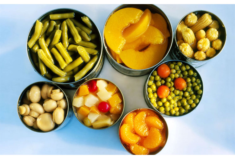 Canned fruit or vegetables