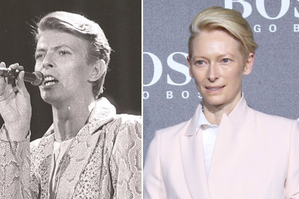 Tilda Swinton and David Bowie