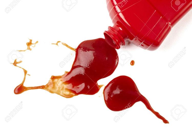 Tomato sauce stains