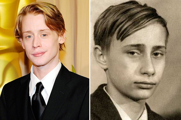Macaulay Culkin and a young Vladimir Putin