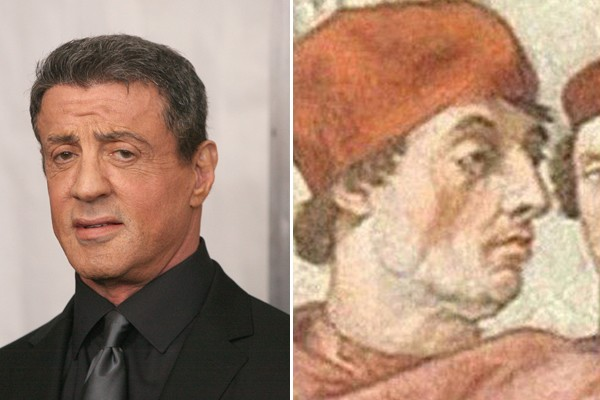 Sylvester Stallone and Pope Gregorio IX