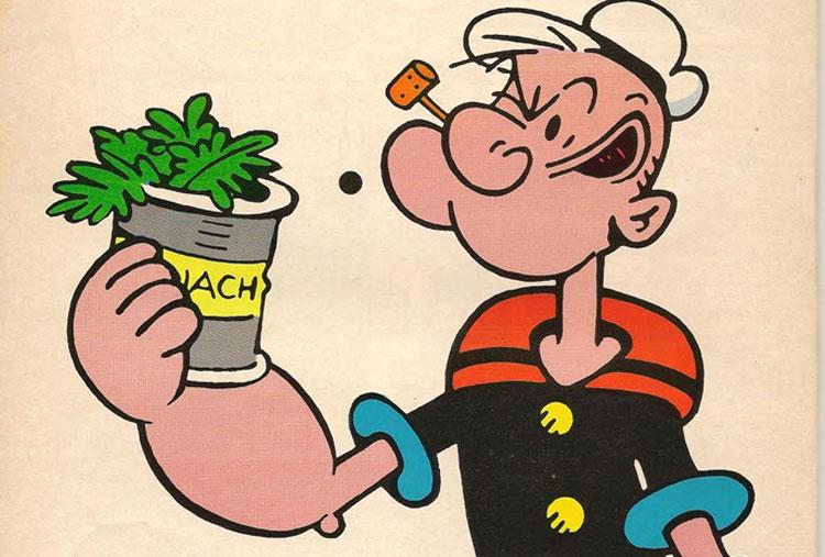 Popeye's spinach
