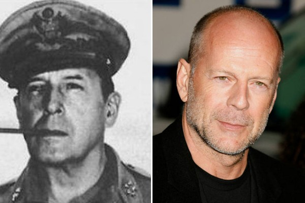 Bruce Willis and General Douglas MacArthur