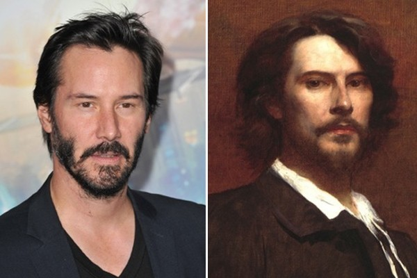 Keanu Reeves and Paul Mounet