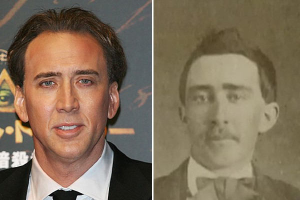 Nicholas Cage and this civil war man